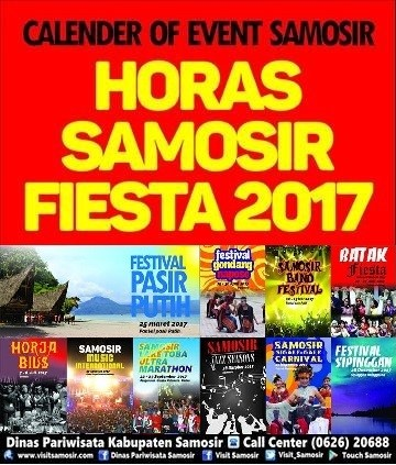 "Calender of Even Samosir "" Horas Samosir Fiesta 2017″"
