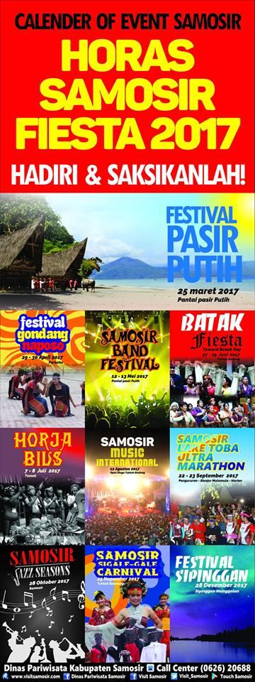 """Calender of Event Samosir """"Horas Samosir Fiesta 2017"""""""